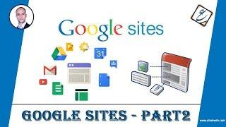 شرح Google Sites (الجزء الثاني) | إنشاء الصفحات