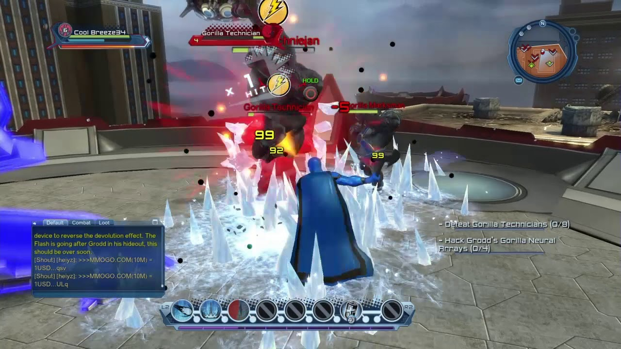 Dc Universe gameplay as a super hero (Gorillas by the sea.)