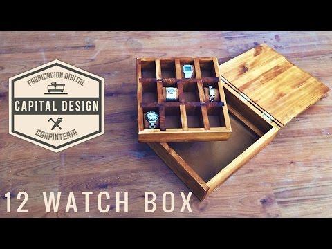 Wood watch box - Caja para relojes   DIY Woodworking  