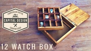 The Watch box I made to end and start a new episode, using pine, some mdf and some oils La caja de relojes que hice para ...