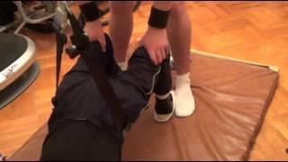 13 Блочный тренажер лежа на спине1  ЛФК для инвалидов(Универсальная система реабилитации всех видов паралича (вследствие нейротравм: ЧМТ, травм позвоночника..., 2013-05-22T19:26:35.000Z)