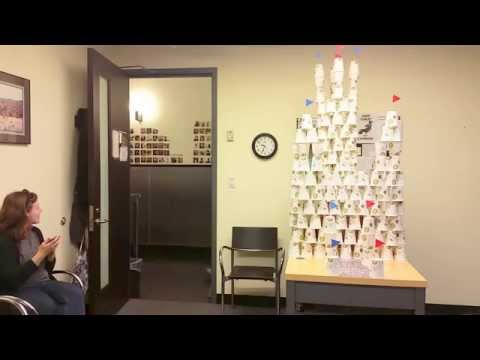 Office Prank | Castle out of cups