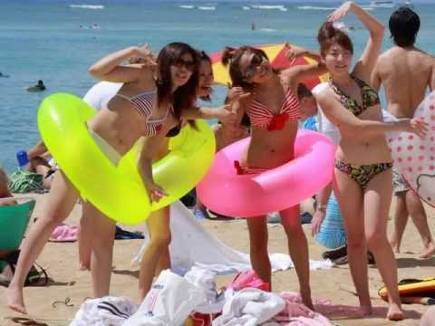 Beach bikini girl japan
