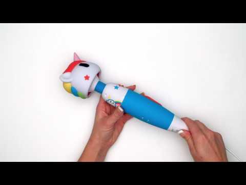 Tokidoki Multispeed Unicorn Massage Wand Vibrator UK White