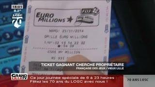 Euromillions: un ticket gagnant en attente