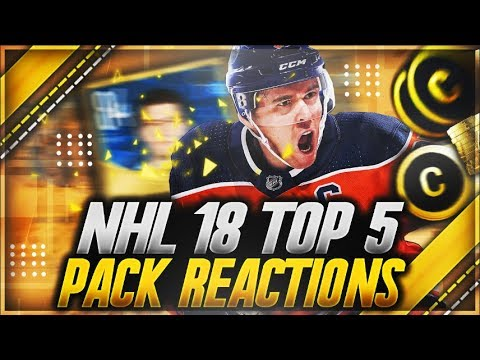NHL 18 HUT: 'FIRST TOP 5 PACK REACTIONS' (INSANE PULLS)