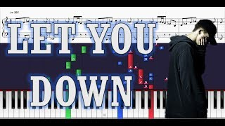 NF - Let You Down - EASY Piano Tutorial w/ Sheets