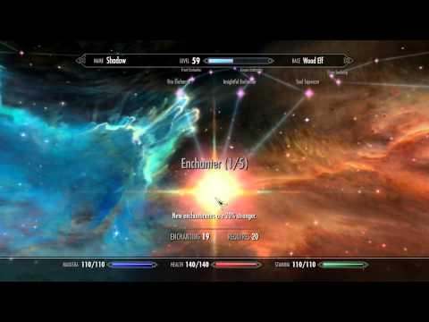 Attribute And Perk Cheats On Skyrim (Upgrading)