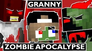 Monster School: GRANNY VS ZOMBIE APOCALYPSE - Minecraft Animation Kids Mobs