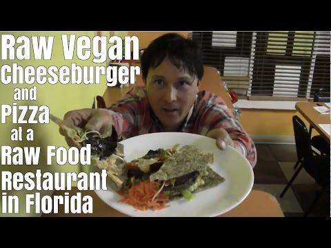 Raw Vegan Cheese Burger at Raw Restaurant in Florida Review