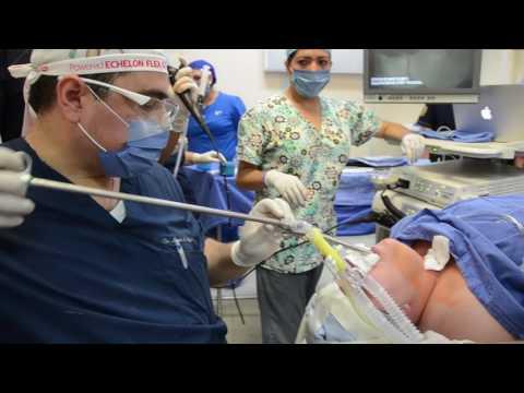 Colocación de stent tráqueal de silicon