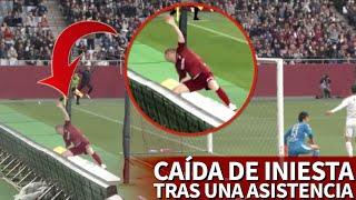 La caída de Iniesta tras asistir a Podolski se volvió viral al instante   Diario AS