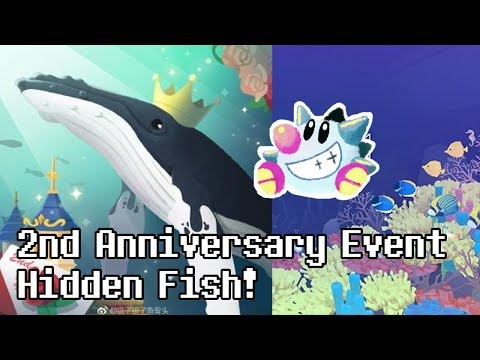 Tap Tap Fish - Abyssrium: 2nd Anniversary Event: All Hidden Fish! (2018) (not Prince of Abyss)