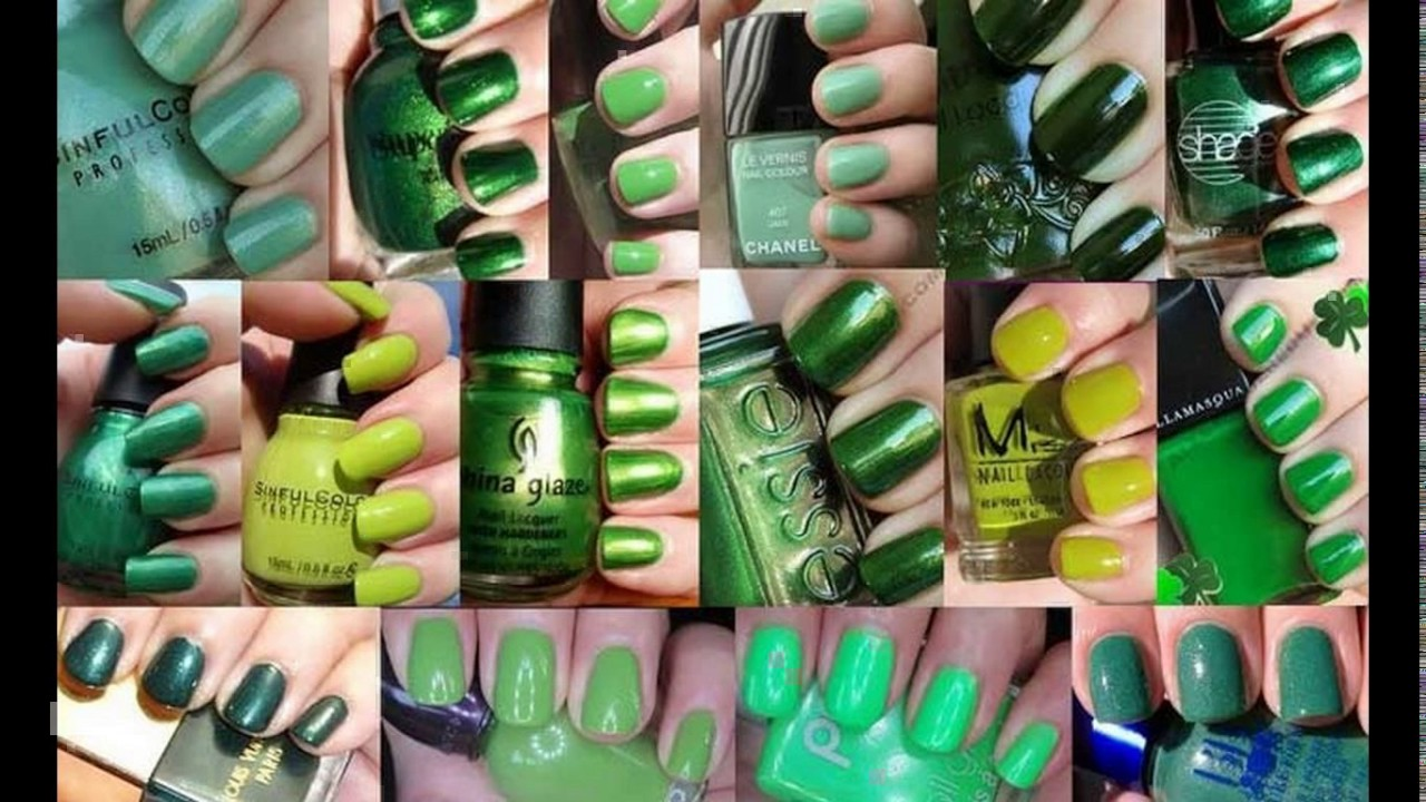 Dark green nail polish designs - YouTube