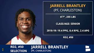 Jarrell Brantley Selected By Utah Jazz With Pick #50 In 2nd Round of 2019 NBA Draft:Grade & Analysis