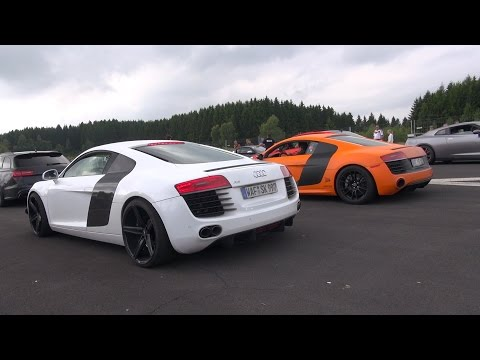 Drag Races: Audi R8 V8 w/ LOUD Capristo Exhaust!