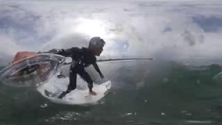 #VR360 eye 失った足 波に立つ 障害者サーフィン