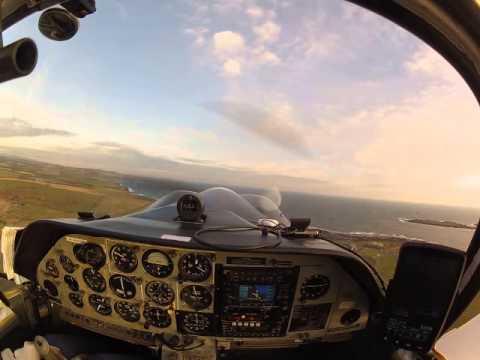 Scottish Aviation Bulldog takeoff (EGNS)