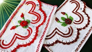 Barrado em Crochê para Pano de Prato Coração Feliz 1°Parte