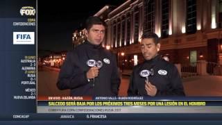 Carlos Salcedo 3 meses fuera por lesión