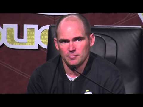 Mark Helfrich on not playing at Oregon, but the 'total luck' he said he has had to coach the Ducks