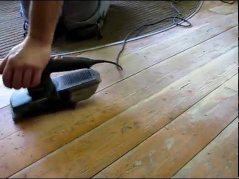 Sanding Wood Floors Orbital Sander Bosch
