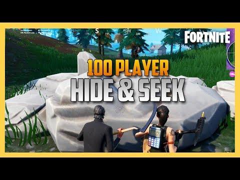 100 Player Hide and Seek - Hunted By Slogoman! | Swiftor