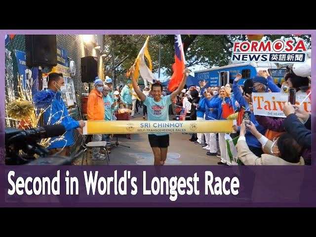 58-year-old Lo Wei-ming finishes second in world's longest foot race