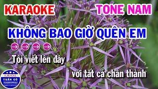 Karaoke Không Bao Giờ Quên Em | Nhạc Sống Beat Nam Tuấn Cò