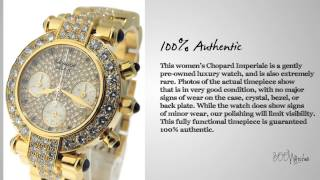 Look at this pre owned Chopard Imperiale 18k Yellow Gold Diamonds Quartz Rare Watch