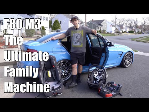 V100: Can An F80 BMW M3 Be Used As A Family Car? Child Seats Installed! (Infant And Convertible)