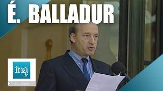 L'annonce du gourvernement d'Edouard Balladur | Archive INA