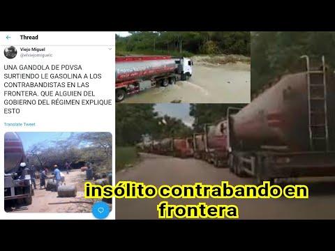 Gandolas  De Pdvsa Contrabandean Gasolina En La Frontera Colombiana Insólito.. ..