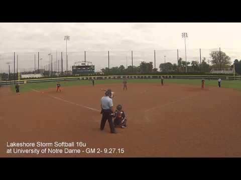 Lakeshore Storm Softball 16u at University of Notre Dame Game 2