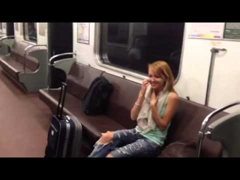 Видео прикол секс в метро -