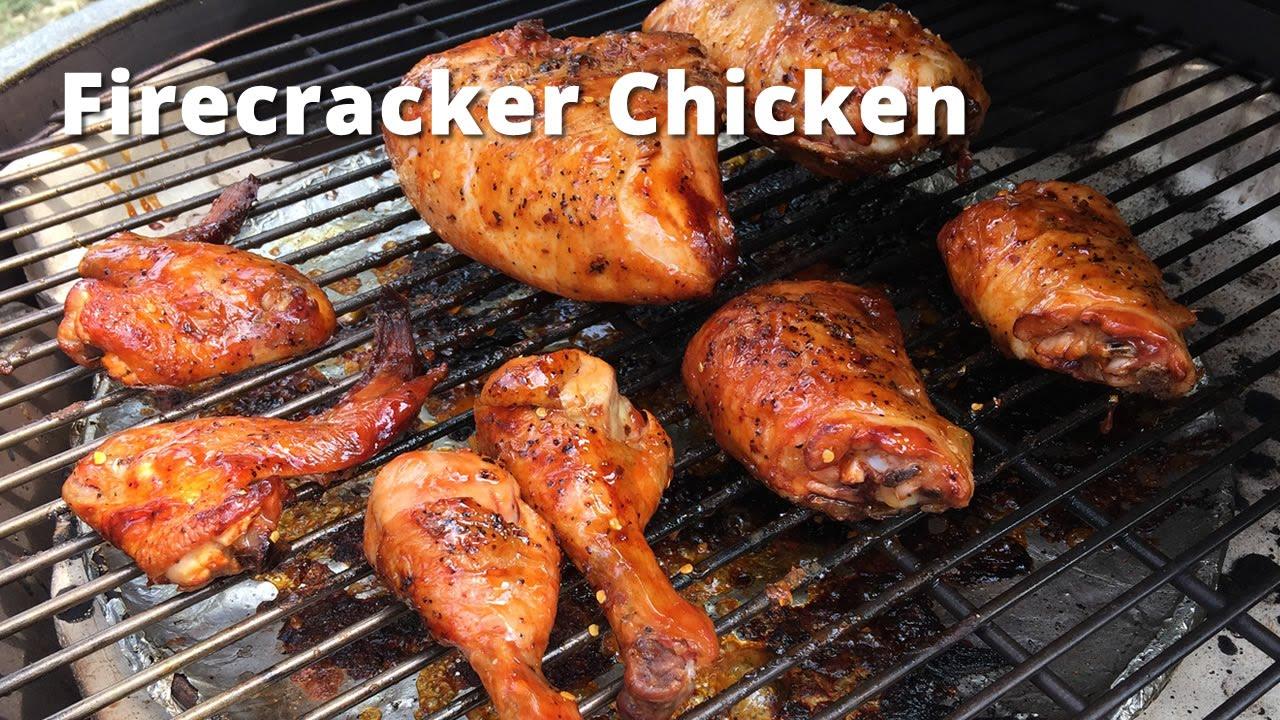 Firecracker Chicken on the Big Green Egg Malcom Reed HowToBBQRight ...