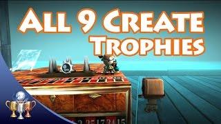 LittleBigPlanet 3 - Tous 9 De Créer Des Trophées - Je Suis Invincible, Cartographe, Ils Peuvent Nager Et Plus