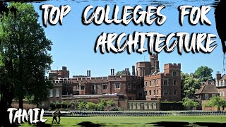Best colleges for Architecture in Tamilnadu|Tamil|Architects|