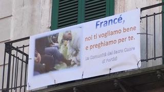 Portici (NA) - Striscione per il Papa: