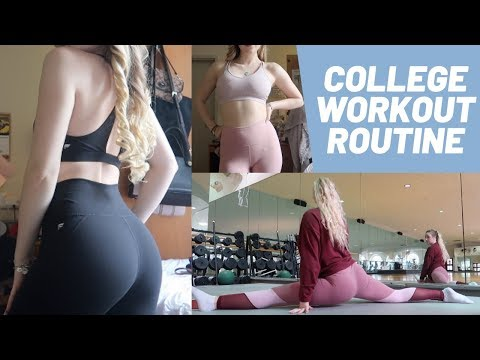workout routine!! & how I stay fit in college