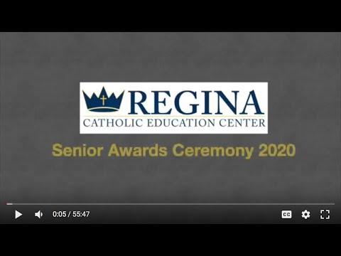 Regina High School Virtual Senior Awards Ceremony 2020