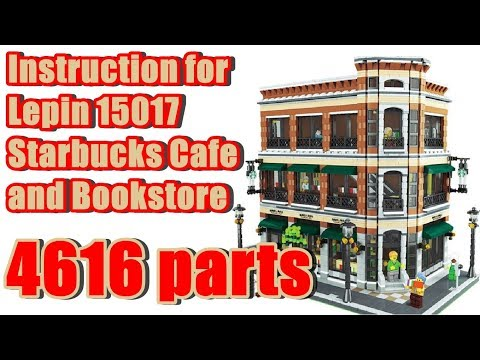 Instruction For Lepin 15017 Starbucks Cafe and Bookstore Part 1