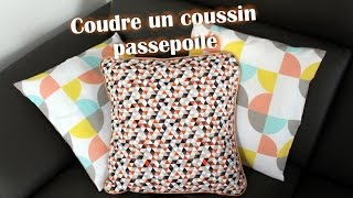 Repeat youtube video Coudre un coussin passepoilé / Poser un passepoil