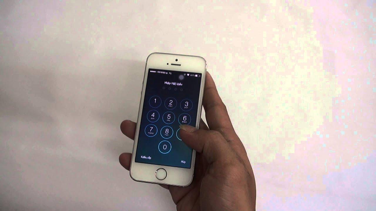[Hướng dẫn] – Thiết lập dấu vân tay iPhone 5s