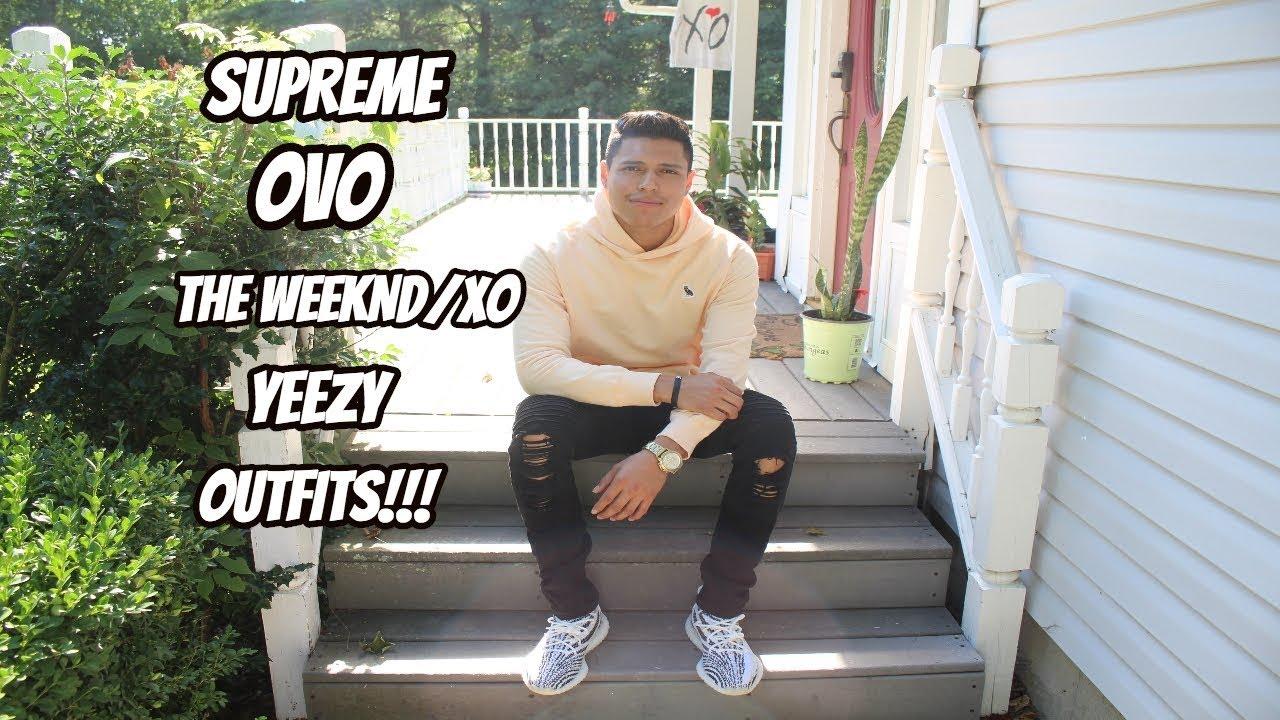 Yeezy Boost 350 V2 Zebra Outfits Ovo Xo Supreme Fits Youtube