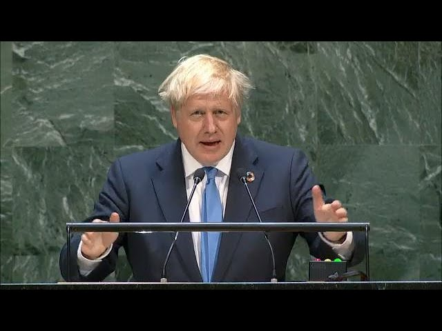 Predicting the Great Reset. The infamous Boris Johnson speech to the UN, just before Covid began...