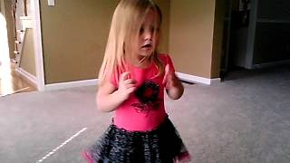 3 year old lip synching to Call Me Maybe