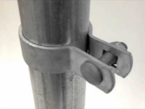 Brace Bands Chain Link Fence Fittings Youtube