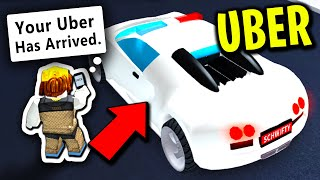 I Became A Bugatti UBER DRIVER For The Day (Roblox Mad City)
