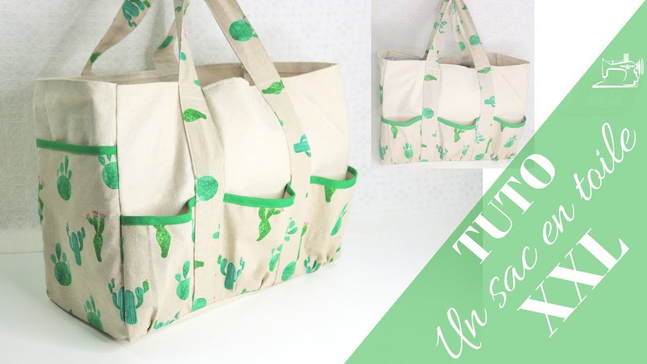 Comment Coudre Un Sac En Toile Xxl Diy Canvas Tool Bag Youtube